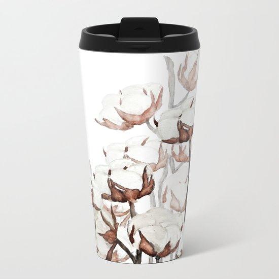 cotton field Metal Travel Mug