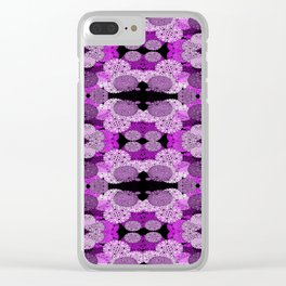 Snowflake II in Purples Clear iPhone Case