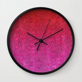 Valentine Glitter Gradient Wall Clock