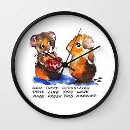 Guinea Pigs in Love Wall Clock
