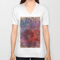 barcelona V-neck T-shirts featuring Barcelona by Andrea Gingerich