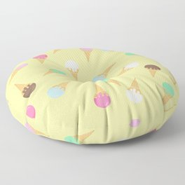 Colorful ice creams pattern Floor Pillow