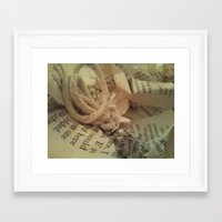 literature Framed Art Prints featuring Literature 1 by Genevieve Moye