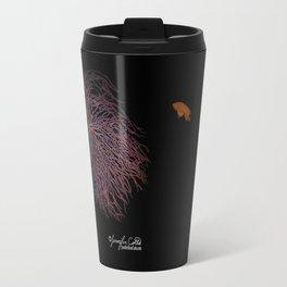 Coral With An Orange Twist Travel Mug