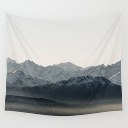 Mountains' Silhouette | Nature and Landscape Photography Wall Tapestry
