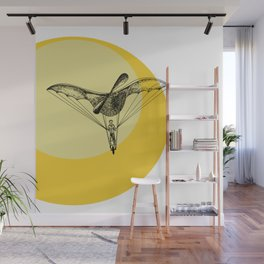 Man on a flying machine Wall Mural