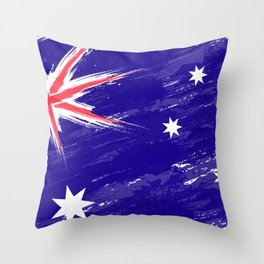 Australia's Flag Design Throw Pillow