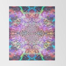 Centaurus Cosmic Mandala Throw Blanket