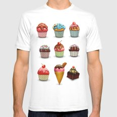 Muffins White MEDIUM Mens Fitted Tee