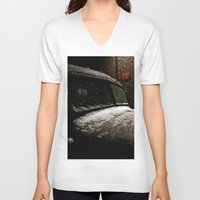 truck V-neck T-shirts featuring Truck Stop by Michael G. Mitchener