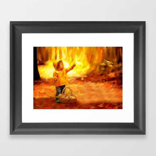 The Little Collector - Painting Style Framed Art Print