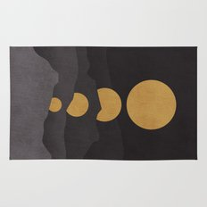 Rise of the golden moon Rug