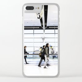 airport hurry Clear iPhone Case