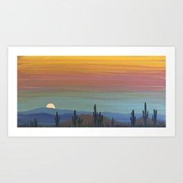 Arizona Moonrise Kunstdrucke