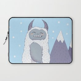 Yeti in the Mountains - Blue Laptop Sleeve