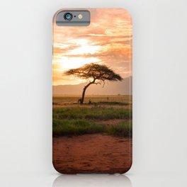Tsavo National Park, East Kenya, Africa. iPhone Case