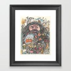 Hagrid's Beard Framed Art Print