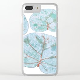 Sea Grape Tropical Leaves Clear iPhone Case