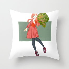 Rhonda Rhubarb Throw Pillow
