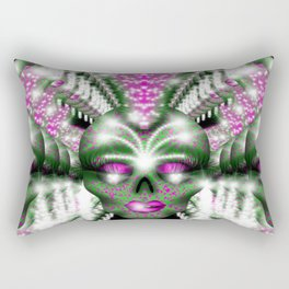 Mowhawk Skull 2 Rectangular Pillow