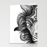 goat Stationery Cards featuring Goat by Alexander Kukinov