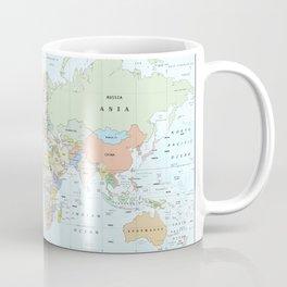 World Atlas & Bathymetry Map [color version] Coffee Mug