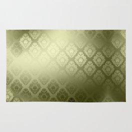 """""""Olive Damask Pattern"""" Rug"""