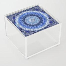 Cobalt Tapestry Mandala Acrylic Box