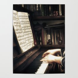 Music. The piano lesson. Poster