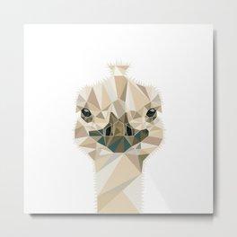 Ostrich polygonal design #society6 #decor #buyart #artprint Metal Print