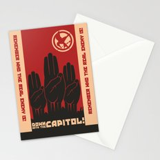 Down With The Capitol - Propaganda Stationery Cards