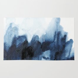 Indigo watercolor 2 Rug
