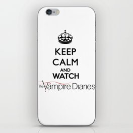 Keep Calm And Watch The Vampire Diaries iPhone Skin