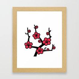 Japanese Plum Tree Framed Art Print