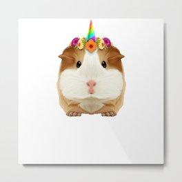 Guinea Pig Guinicorn Unicorn Rodent Wheek Gift Metal Print