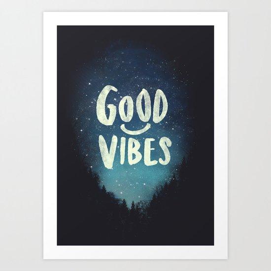 GOOD VIBES V.2 Art Print