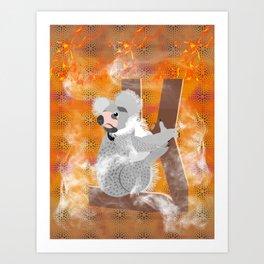 Bush Fires Art Print