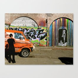Tire Watching Canvas Print