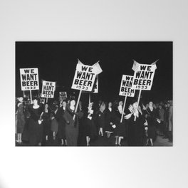 We Want Beer Too! Women Protesting Against Prohibition black and white photography - photographs Welcome Mat