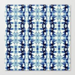 Tie Dye Blues Canvas Print