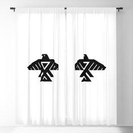 Anishinaabe Ojibwe Thunderbird flag Blackout Curtain