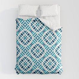Shibori Watercolour no.7 Turquoise Comforters