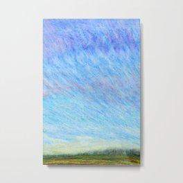 Pastel blue sky Metal Print