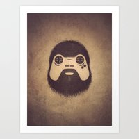 gamer Art Prints featuring The Gamer by powerpig