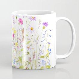 colorful meadow fields watercolor Coffee Mug