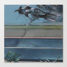 (1) The Modern Raven, Not a Crow - Bird Series 1 Canvas Print