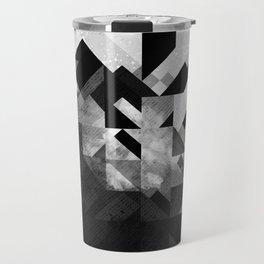 Abstract Black Geometric Travel Mug