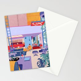 Eames House - Pencil illustration Stationery Cards