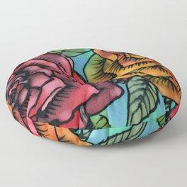 Silk Roses Floor Pillow