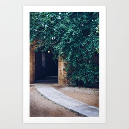 Into the Ivy, Down the Hall Art Print